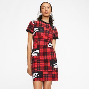 NWT Nike Red Plaid Bodycon Dress XS